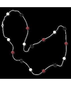Ожерелья Ожерелье белый металлик с цветными бусинами фото, цена