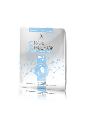 Маска Біонаноцеллюлозна маска для обличчя Lambre BIONANO FACE MASK DNA-NA+ фото, цена